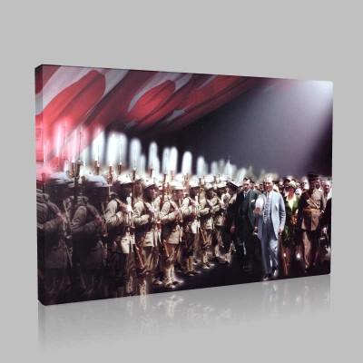 Renkli Atatürk Resimleri 358 Kanvas Tablo
