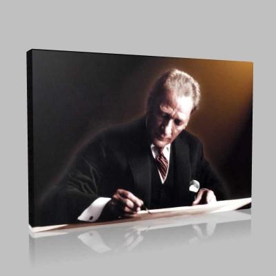Renkli Atatürk Resimleri 359 Kanvas Tablo