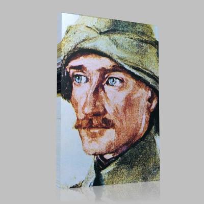 Renkli Atatürk Resimleri 36 Kanvas Tablo