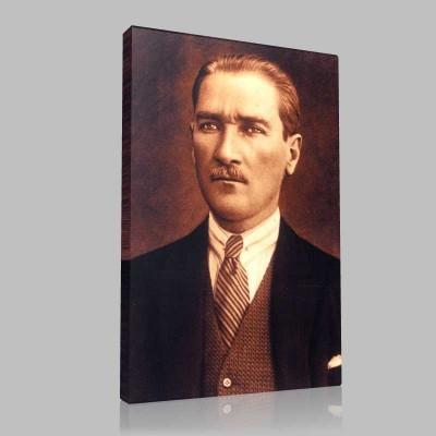 Renkli Atatürk Resimleri 361 Kanvas Tablo