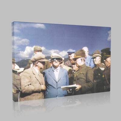 Renkli Atatürk Resimleri 362 Kanvas Tablo