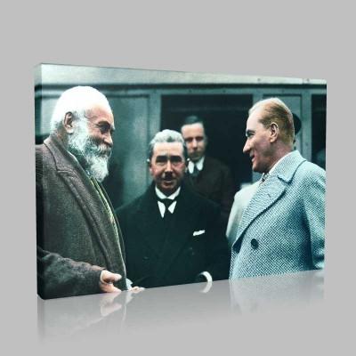 Renkli Atatürk Resimleri 363 Kanvas Tablo