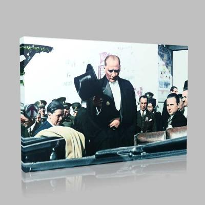 Renkli Atatürk Resimleri 364 Kanvas Tablo