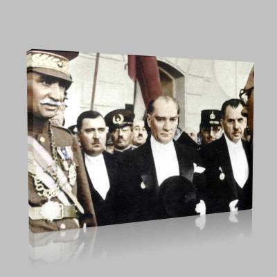 Renkli Atatürk Resimleri 366 Kanvas Tablo