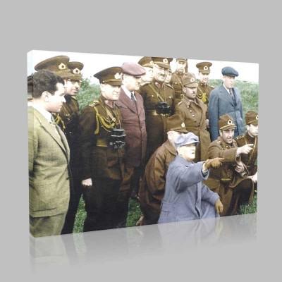 Renkli Atatürk Resimleri 367 Kanvas Tablo