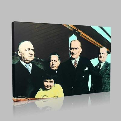 Renkli Atatürk Resimleri 368 Kanvas Tablo