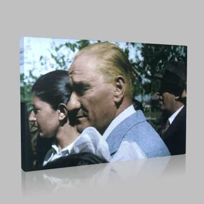 Renkli Atatürk Resimleri 369 Kanvas Tablo
