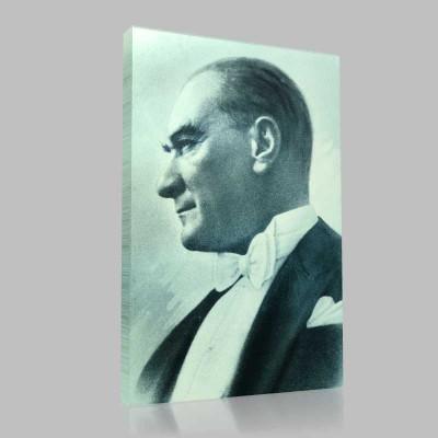 Renkli Atatürk Resimleri 37 Kanvas Tablo