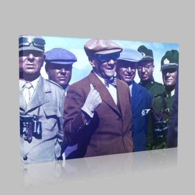 Renkli Atatürk Resimleri 371 Kanvas Tablo