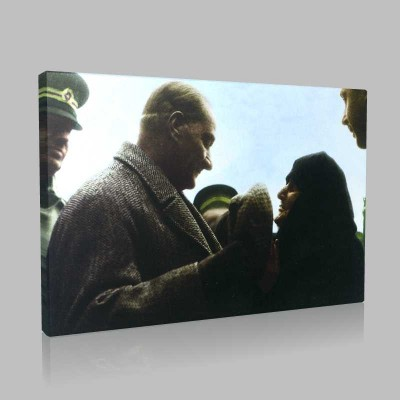 Renkli Atatürk Resimleri 372 Kanvas Tablo