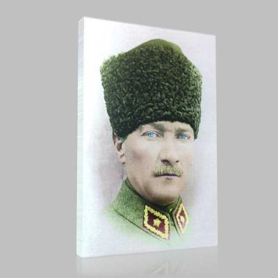 Renkli Atatürk Resimleri 373 Kanvas Tablo