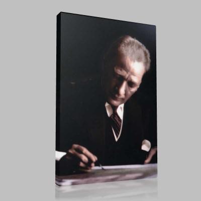 Renkli Atatürk Resimleri 374 Kanvas Tablo
