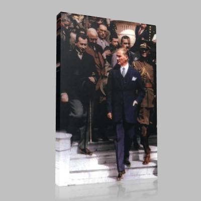 Renkli Atatürk Resimleri 375 Kanvas Tablo