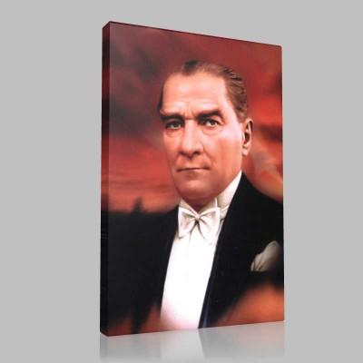 Renkli Atatürk Resimleri 376 Kanvas Tablo