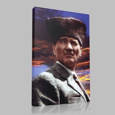 Renkli Atatürk Resimleri 378 Kanvas Tablo