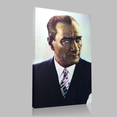 Renkli Atatürk Resimleri 38 Kanvas Tablo