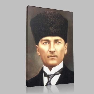 Renkli Atatürk Resimleri 380 Kanvas Tablo