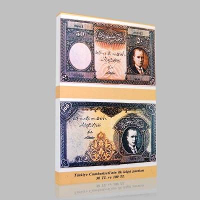 Renkli Atatürk Resimleri 381 Kanvas Tablo