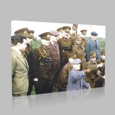 Renkli Atatürk Resimleri 383 Kanvas Tablo