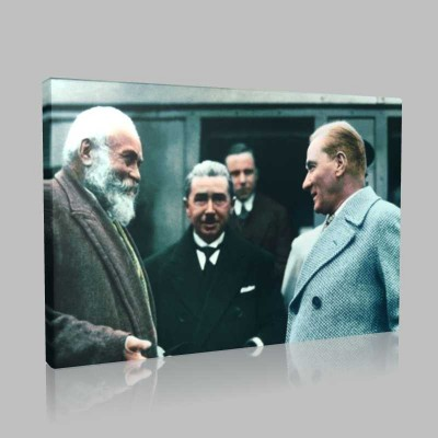 Renkli Atatürk Resimleri 384 Kanvas Tablo