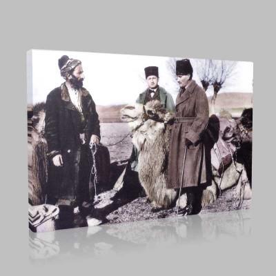 Renkli Atatürk Resimleri 386 Kanvas Tablo