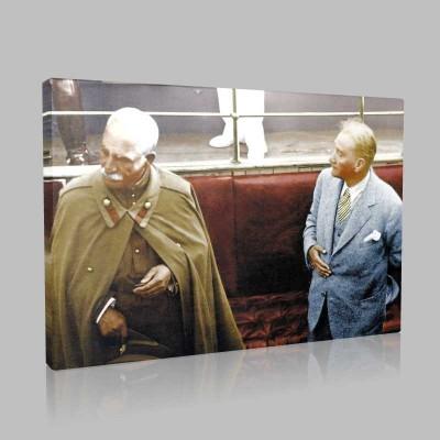 Renkli Atatürk Resimleri 387 Kanvas Tablo