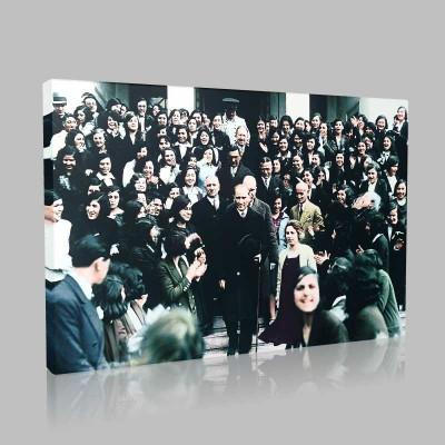 Renkli Atatürk Resimleri 389 Kanvas Tablo