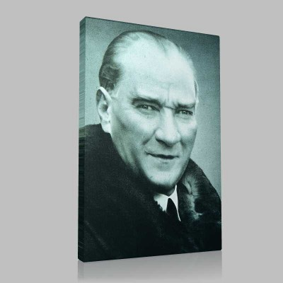 Renkli Atatürk Resimleri 39 Kanvas Tablo