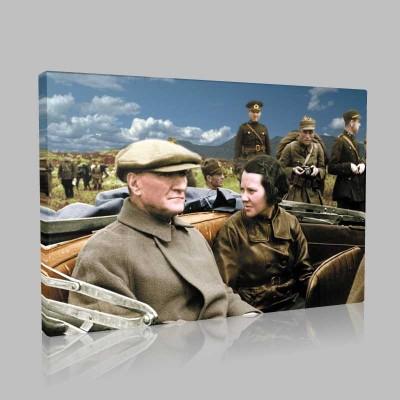 Renkli Atatürk Resimleri 390 Kanvas Tablo