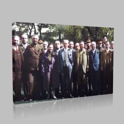 Renkli Atatürk Resimleri 391 Kanvas Tablo
