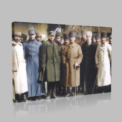 Renkli Atatürk Resimleri 392 Kanvas Tablo