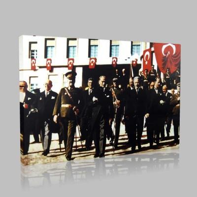 Renkli Atatürk Resimleri 394 Kanvas Tablo