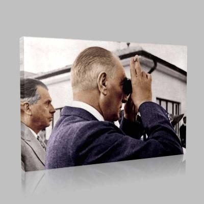 Renkli Atatürk Resimleri 395 Kanvas Tablo