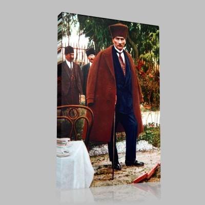 Renkli Atatürk Resimleri 396 Kanvas Tablo