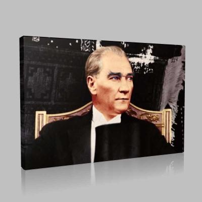 Renkli Atatürk Resimleri 397 Kanvas Tablo