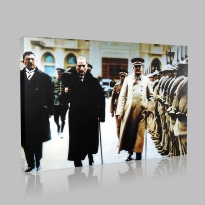 Renkli Atatürk Resimleri 398 Kanvas Tablo