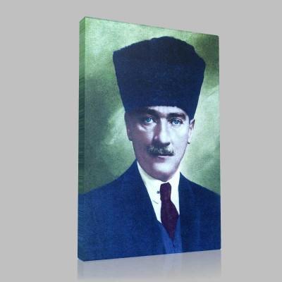 Renkli Atatürk Resimleri 4 Kanvas Tablo