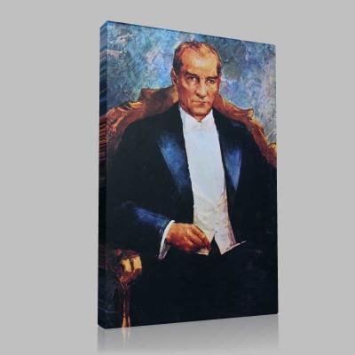 Renkli Atatürk Resimleri 40 Kanvas Tablo