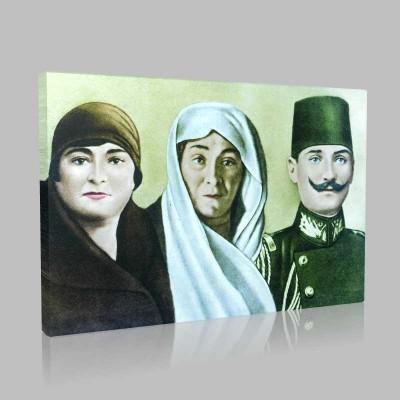 Renkli Atatürk Resimleri 402 Kanvas Tablo