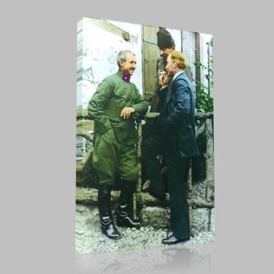Renkli Atatürk Resimleri 403 Kanvas Tablo