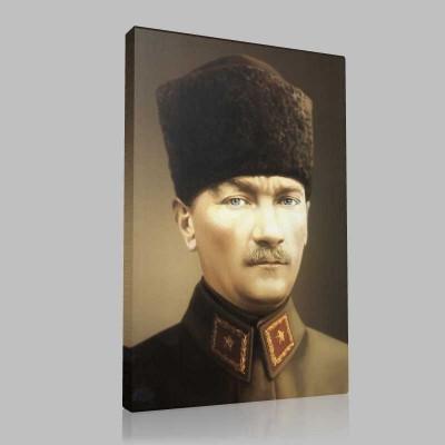 Renkli Atatürk Resimleri 407 Kanvas Tablo