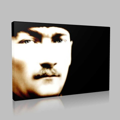 Renkli Atatürk Resimleri 408 Kanvas Tablo