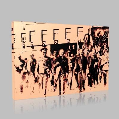 Renkli Atatürk Resimleri 409 Kanvas Tablo