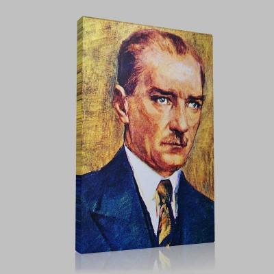 Renkli Atatürk Resimleri 41 Kanvas Tablo