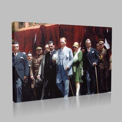 Renkli Atatürk Resimleri 410 Kanvas Tablo
