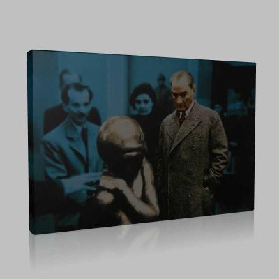Renkli Atatürk Resimleri 411 Kanvas Tablo