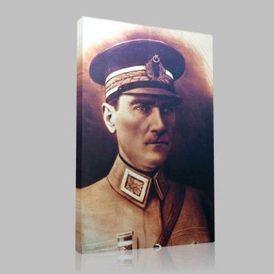 Renkli Atatürk Resimleri 42 Kanvas Tablo