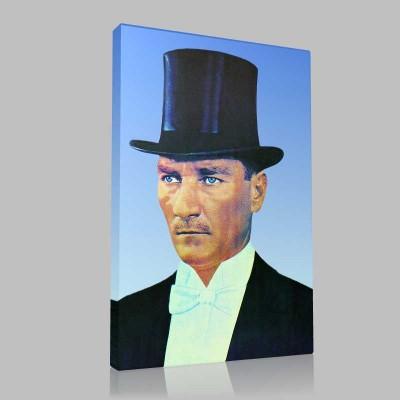 Renkli Atatürk Resimleri 43 Kanvas Tablo