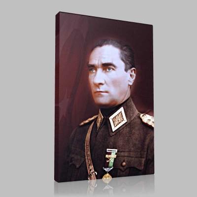 Renkli Atatürk Resimleri 44 Kanvas Tablo