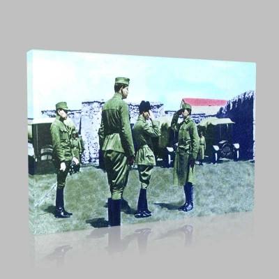 Renkli Atatürk Resimleri 45 Kanvas Tablo